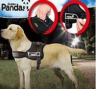 Dog Harness Adjustable/Retractable / Padded Red / Black Nylon