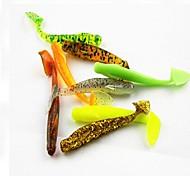 Hot Sale 1g 5cm colorful soft fish worm lure 30pcs