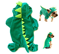 Naughty Green Dinosaur Flannelette Clothes for Pet Dog(Assorted Sizes)
