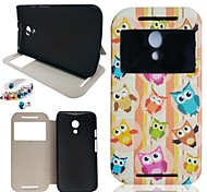 Owl Pattern PU Leather Full Body Case And dustproof plug  for Sony Xperia Z3 Mini