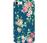 Blue Bottom Rose Pattern Back Case for iPhone 6