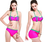 Women's  New Design Fashion The Article Contrast Color Navy Wind Decorations Three Piece Bikinis