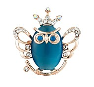 Fashion Owl Brooch (Color Random)