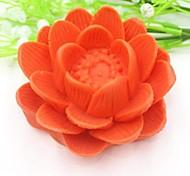flor de lótus em forma de estilo chinês bolo fondant de molde de silicone