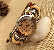 Women's Fashion High Quality Digital Dial Leather Quartz Movement Bracelet Watches