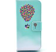 coco Fun® Gemälde Kreis Blumenmuster PU-Leder Ganzkörper-Fall mit Film und USB-Kabel und Schreibkopf für iphone 5c