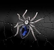 araignée cristal de haute qualité et broche en strass