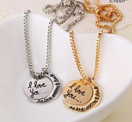 "Eruner® 2015""I Love You To The Moon and Back"" Two-Piece Pendant Necklace Items Hot Selling Women Gifts Lovers Jewelry"