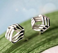 Earring Jewelry Wedding / Party / Daily Sterling Silver Silver