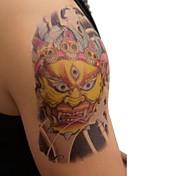 PC 1 Color de la figura impermeable tres eyetiger pegatinas patrón de tatuaje