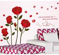 Phnom Penh Romantic Roses Wall Stickers