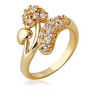 Women's Fashion Double Heart Design18K Gold Plated Ring