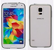 Transparent Inferior Smooth Silicone Mobile Phone Sets for Samsung Galaxy S5 i9600