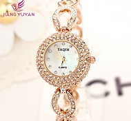 YAQIN® Luxury Brand Women Watches Fashion Rose Gold Rhinestone Quartz Watches Women(Assorted Color)