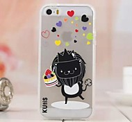 Luminous Lovely Lion Cartoon Images TPU Soft Case for iPhone 6