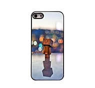 In the Lamp Light Wooden Man Design Aluminum Hard Case for iPhone 5/5S
