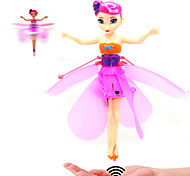 Cute Flower Fairy Maiden Style Flying Toy with LED Light (USB Rechargeable)