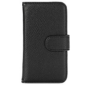 Litchi Skin Wallet Style Magnetic Flip Stand PC + PU Leather Case for Motorola Moto E XT1021 Dual SIM(Assorted Colors)