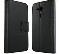 Solid Color PU Leather Full Body Protection Cover with Stand and Card Slot for Sony Xperia SP M35h