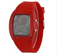 mulheres levou quadrado pulseira de silicone relógio de estilo velocímetro