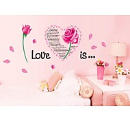 amour roses stickers muraux