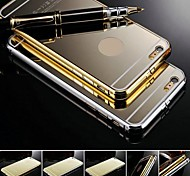 KX Brand Gold Version Metal Frame Acrylic All Mirror Backplane Metal Hard Case for iPhone 6(Assorted Colors)