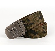 ESDY  Men's Casual and Outdoor Fashion Stripe Nylon Canvas Belt