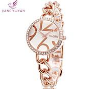 Fashion Bracelet Watch Women Casual Rhinestone Watch Quartz Rose Gold Luxury Dress Wristwatches(Assorted Colors)