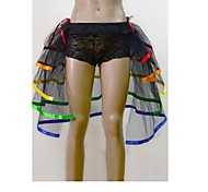 5 Layer Rainbow Tulle Bouffant Tail Women's Burlesque Party Dance Club Skirt