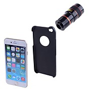 ABS Fish-Eye Lens Long Focal Lens Wide-Angle Lens 8X Lens with Case iPhone 6