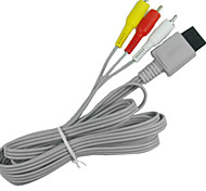 1.8m 5.904ft wii 30pin macho a 3 RCA macho de video hd cable de conexión de la pantalla de televisión de audio para wii wii