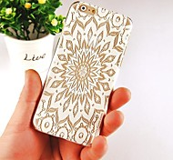 SnowFlake Hollow Pattern Transparent Back Case for IPhone 6