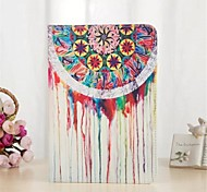 White Water Pattern PU Leather Case with Stand and Card Slot for iPad Air