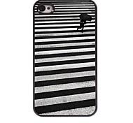 Walking Pattern Aluminum Hard Case for iPhone 4/4S