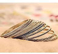 Fashion All-match Multilayer Silver Alloy Bracelet(1 Set)
