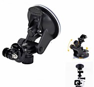 "H019 Small Car Suction Cup PC Mount Holder for GPS / 1/4"" Camera / Gopro Hero 4/2 / 3 / 3 +"