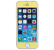 LR-0817 Mobile Phone Toughened Glass Protective Film,Phone Tempered Screen Protector for iPhone 5/5S(0.3mm) Yellow