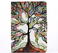 Color Of The Tree Pattern PU Leather Full Body Case with Stand  for iPad Mini 1/2/3