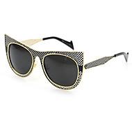 100% UV Women's Browline Metal Fashion Sunglasses