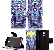 For Motorola Case Wallet / Card Holder / with Stand / Flip Case Full Body Case Elephant Hard PU Leather Motorola