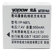 YoPoW nb - 7l 950mAh Digitalkamera Akku geeignet für canong10 / g11 / g12