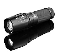 TanLu 878 Rechargeable 5-Mode 1x Cree L2 Zoom LED Flashlight(800-1000LM, 1x26650, Black)