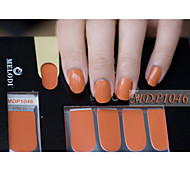 14pcs Pure Color Nail Art Sticker mdp1046