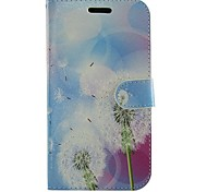 Dandelion Flowers PU Leather Full Body Wallet Protective Case with Stand for Samsung Galaxy Grand Neo I9060