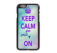 Keep Calm and Smile On Design Aluminum Case for iPhone 6