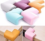 Soft Baby Safe Corner Protector Table Desk Corner Guard,NBR 60*60*12mm(Random Color)