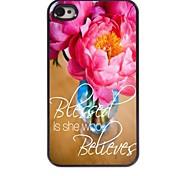Blumen-Design Aluminiumkasten für iphone 4 / 4s