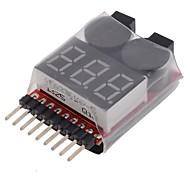 neewer® 2 в 1 RC тестер 8S батареи Lipo проверки низкого напряжения звуковой аварийный сигнал Светодиодный индикатор