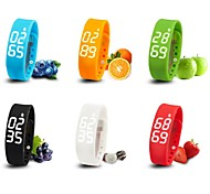 W2 Wearable Smart Wristband Bracelet,Temperature/3D Pedometer/Sleep Tracker/Timer Functions(Assorted Colors)