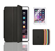 Ultra Slim Tri-Fold PU Leather with Hard Back Smart Stand Case Cover and Film for iPad mini 3(Assorted Colors)